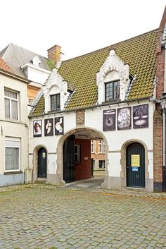 Unique house with gateway in Bruges, Belgium