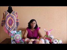 Poncho Crochet de Cuatro Cuadros / Tutorial   Crochet y Dos agujas - Patrones de tejido