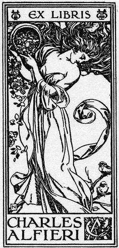 ex-libris art nouveau**