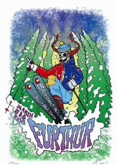 Original concert poster for Furthur at 1st Bank in Broomfield, Colorado in 2010. 12 x 18