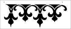 Gothick stencil from The Stencil Library BUDGET STENCILS range. Buy stencils online. Stencil code BB1.