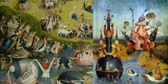 """Hieronymus Bosch   Scenes from """"The Garden of Earthly Delights"""""""