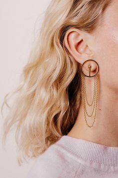 Bubble Drop Chain Earrings   Natasha Schweizer