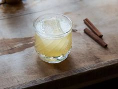 Smoky blended Scotch gets softened by an easy cinnamon-honey syrup and brightened with lemon juice for a simple riff on a classic cocktail.