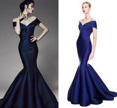 Resultado de imagen para vestidos largos  tafeta sirena 2016
