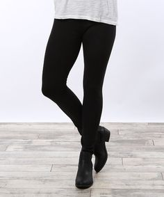 Look what I found on #zulily! Black Faux Fur-Lined Leggings - Plus #zulilyfinds