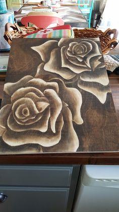 Staining Wood Furniture, Funky Furniture, Furniture Makeover, Upcycled Furniture, Wood Slice Crafts, Wood Crafts, Diy Crafts, Wood Staining Techniques, Wood Burning Art