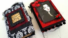 Mind of Morticia - Gothic Junk Journal Keepsakes Journal Paper, Art Journal Pages, Junk Journal, Happy Birthday Gothic, Journal Themes, Journal Ideas, Sketchbook Cover, Art Journal Backgrounds, Doodle Art Journals