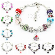 AA-02 Fashion 925 Sterling Silver Daisies Murano Glass&Crystal European Charm Beads Fits Charm Bracelets Style Bracelets Adjustable from Crazyducks,$4.09   DHgate.com