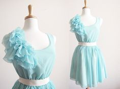 Tiffany Blue Romance Ruffles BridesMaid marie by lovencollection, $39.00