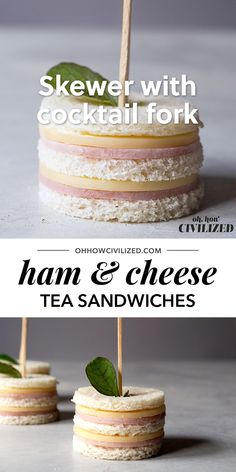 Freaking cute ham and cheese sandwiches perfect for afternoon tea, parties, and snack time! Two bites and they're gone. Freaking cute ham and cheese sandwiches perfect for afternoon tea, parties, and snack time! Two bites and they're gone. Tea Time Snacks, Snacks Für Party, Tea Party Recipes, Tea Party Foods, Picnic Recipes, Easy Kid Party Food, Food For Tea Party, Easy Picnic Food Ideas, Tea Party Sandwiches Recipes
