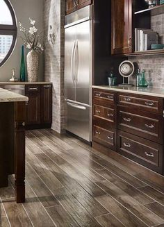 Palmetto Smoke Porcelain Flooring Room Scene