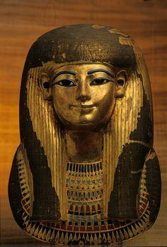 King Tut (King Tutankhamun Exhibit - Post card ofGilden Funerary Mask of Tuyu Dynasty) Egyptian Mask, Egyptian Mummies, Ancient Egyptian Art, Ancient History, Art History, Egyptian Mythology, Egyptian Goddess, European History, Ancient Aliens