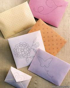 Homemade spa gift... envelope sachets - super artsy, too!