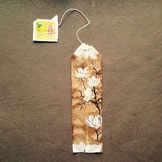 363 days of tea. Day 111. #recycled #teabag #tea #teatime #tealovers #magnolia #spring #art #artdaily #artmyfeed #drawing #journal
