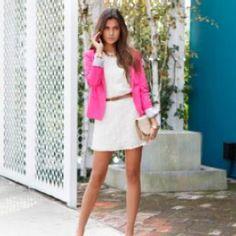 pretty pink blazer w lace