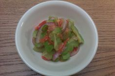 Love bittermelon and love it in salad form.  No rinsing for me, I love the bitterness combined with the tanginess.