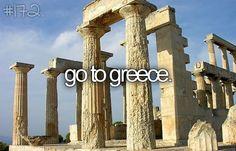 De unos años para acá, he querido ir a Grecia y Roma, me encanta las culturas antiguas.