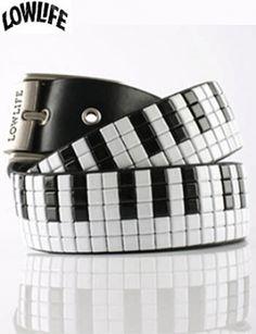 Piano Keys Studded Belt