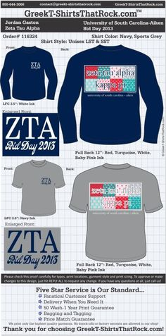 Zeta Tau Alpha T-Shirts That Rock 116324proof ...................................................WORK 1 ON 1 with a member of our design team until your T-Shirt ideas are perfect.... and ALWAYS them on in time (before you even need them) at the price you want! ...................................................................................................... JUST CLICK THIS IMAGE TO GET STARTED!