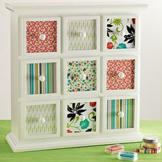 Very nicely decorated drawers - perfect for paperclips, bulldog clips and WASHI tape!