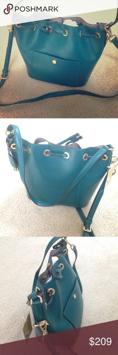 Michael Kors Greenwich Bucket Bag MK medium Greenwich bucket bag in Teal leather, brand new with tags, item #30F5GGRM2U MICHAEL Michael Kors Bags Satchels