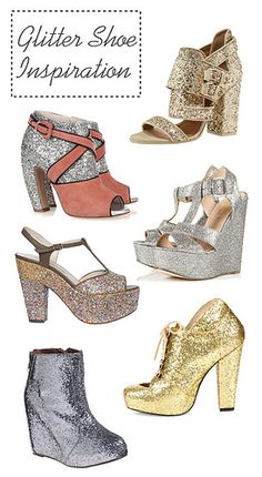 @Kimberlee Ernest DIY glitter shoes....maybe one day? good way to recycle old scuffed shoes haha