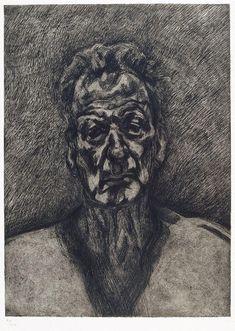 Lucian Freud, Self portrait, reflection, 1996