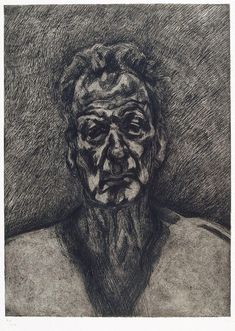 Lucian Freud, Self portrait, reflection, 1996