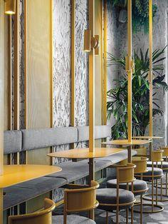 POBO asian bistro on Behance Hawaiian Restaurant, Bistro Restaurant, Cafe Bistro, Asian Cafe, Asian Bistro, Bistro Interior, Restaurant Interior Design, Asian Interior Design, Traditional Hawaiian Food