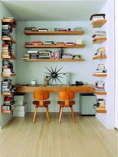 Eames Chairs | Mid Century Office Nook