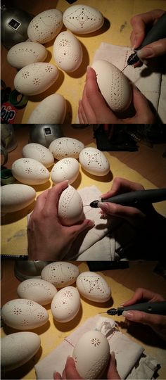 have a high frustration limit, you can try it out!you have a high frustration limit, you can try it out! Egg Crafts, Easter Crafts, Diy And Crafts, Carved Eggs, Art Carved, Dremel Projects, Projects To Try, Craft Projects, Spring Crafts