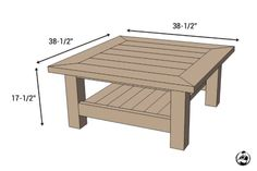 Square Coffee Table w/ Planked Top { Free DIY Plans } Square Plank Coffee Table – Dimensions Coffee Table Plans, Outdoor Coffee Tables, Rustic Coffee Tables, Diy Coffee Table, Decorating Coffee Tables, Diy Table, Square Patio Table, Large Square Coffee Table, Coffee Table Dimensions