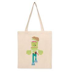 Bolso de tela Frankenzombie. Bolso de algodón con diseño del artista Tierra. Compra miles de productos originales en Señor Cool.