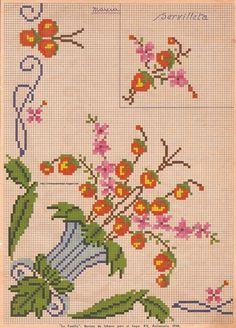 alinhavando o tempo: Gráficos antigos-flores