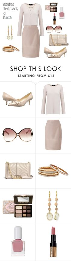 """""""Untitled #1991"""" by pondj ❤ liked on Polyvore featuring Nine West, Line, Balenciaga, Jacques Vert, Rebecca Minkoff, Nest, Too Faced Cosmetics, Panacea, tenoverten and Bobbi Brown Cosmetics"""