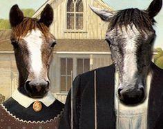 American Gothic horses