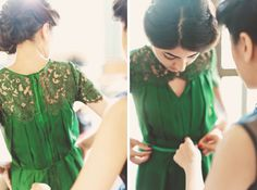 Emerald Wedding Dress