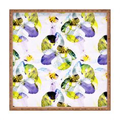 CayenaBlanca Orchid 3 Square Tray | DENY Designs Home Accessories