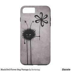 Black #Evil Flower Bug Vintage #Halloween #Gothic #iPhone 7 Case