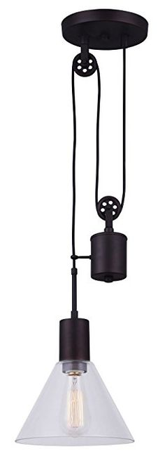 Kenroy Home Pulley 1 Light Oil Rubbed Bronze Plug In Wall Sconce