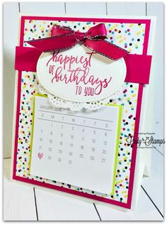 Today I'm sharing a little project that I've made to share with my team. In our Demonstrator magazine called Stampin' Success, we were gi. Birthday Diy, Birthday Cards, Birthday Gifts, Happy Birthday, Post It Pad, Birthday Calender, Diy Calendar, Desk Calendars, Diy Cards
