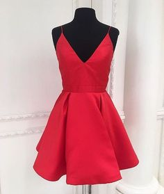 Short Prom Dress,Red Homecoming Dress,Homecoming Dresses