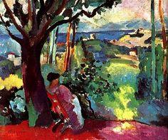 Henri Manguin - Jeanne Resting at Villa Dermiere - 1905