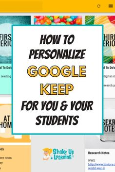 Google Keep is a powerful tool for the classroom and is much more than just a place to store your to-do list. Here are some tips and tricks for personalizing Google Keep for you and your students! | shakeuplearning.com Free Teaching Resources, Teacher Resources, Google Keep, Google Classroom, Educational Technology, Curriculum, Students, Apps, Tools
