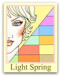 LIGHT SPRING  Dominant Characteristic is LIGHT  Light eyes, skin, and hair.  Often a somewhat neutral look to them, either skin, eyes or hair.
