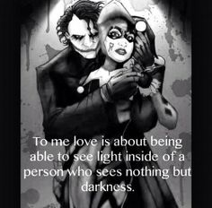 Or the light inside a person when everyone else only sees darkness.