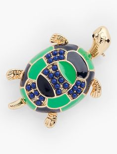 Colorful Turtle Pin - Talbots