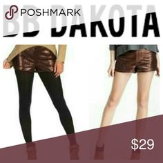 🎉SALE🎉BB Dakota Bronze Sequin Shorts Hot shorts can be worn with stockings and booties or bare with sandals! New with tags. Fully lined. 100% polyester. Imported. Smoke/pet-free home.  💞Thanks for browsing my closet!💞 BB Dakota Shorts