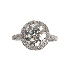 3.31ct Round DiamondRing  Zabler Design Jewelers  Reference Number: R6856
